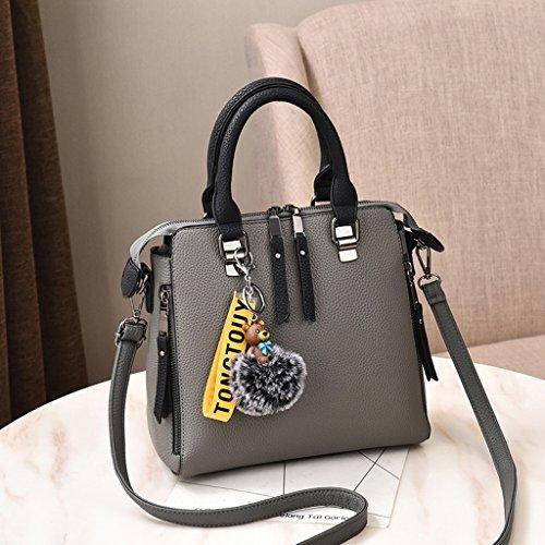 Bolso Femenino de la Moda de Primavera Bolso de la Señora Hombro Messenger Bag Versión Coreana Gray