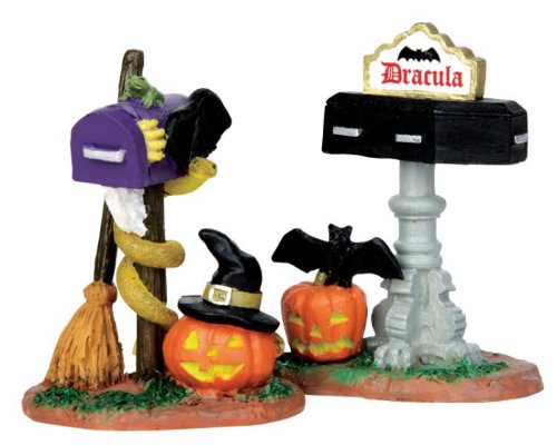 Lemax Spooky Town Monster Mailboxes Set of 2 # 44740 for $<!--$4.99-->