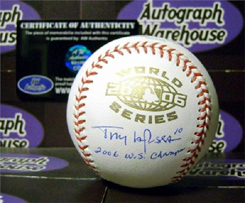 Tony LaRussa autographed 2006 World Series Baseball inscribed 2006 WS - World 2006 Series Champs