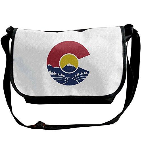 Unisex Rocky Mountain Colorado C Shoulder Bags Casual Handbag Travel Crossbody Bag Messenger Sling Bag (Colorado Rockies Messenger Bag)