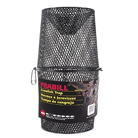 Frabill Deluxe Vinyl Crawfish Trap with 2-Piece Torpedo, 16.5 x 9-Inch