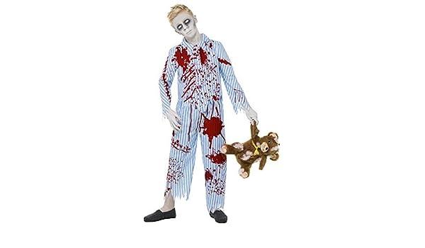 Niños Adolescentes Zombie MUERTO DE RAYAS AZULES Pijama Sangriento Pijama miedo disfraz halloween 7-14 AÑOS - Azul, 10-12 years: Amazon.es: Juguetes y ...