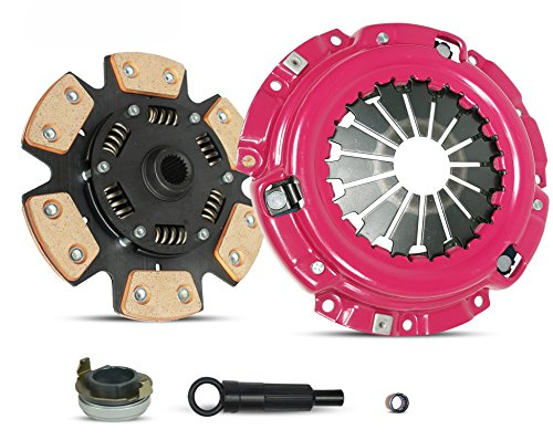 Clutch Kit Works With Ford Escape Escort Mazda Tribute Mercury Tracer Limited XLS LS GS Trio Deportivo Equi Mid Sport 1997-2004 2.0L l4 GAS DOHC Naturally Aspirated (6-Puck Clutch Disc Stage 2)