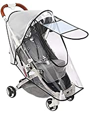 SlowTon Stroller Rain Cover Universal Size, Waterproof Dustproof Windproof Durable Protection, Travel-Friendly Stroller Weather Shield with Eye Screen, Outdoor Use Eye Protection Stroller accessory