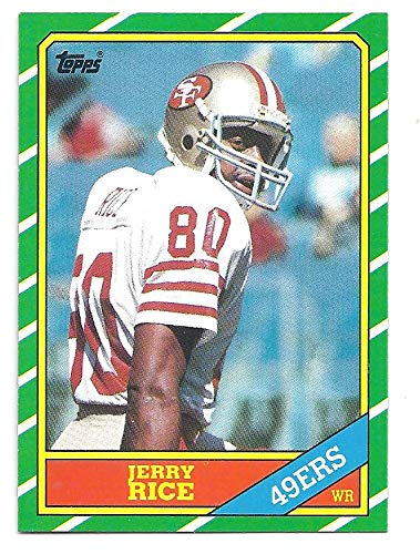 Jerry Rice 1986 Topps 161 Rookie Card Rc San Francisco 49ers