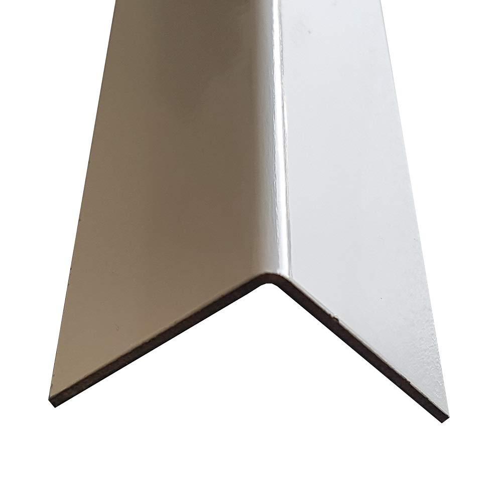 2000mm x 60x60mm Oberfl/ächenoptik: silber natur eloxiert Material: AlMg1 in 1,5mm Materialst/ärke 2 Meter langer Aluminium Kantenschutz Winkel Schenkell/änge Innenma/ß 6x6 cm