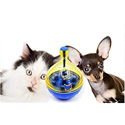 Pets Dog Tumbler Leakage Food Ball Puppy Pet dogs cats Training Exercise Fun Bowl Tasty Toy Bell