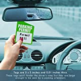 Parking Permit Hang Tag - 50-Pack Parking