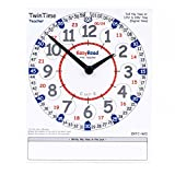 EasyRead TwinTime Teacher Edition, 13.5'' x 12.5'' cm, double-sided write-on wipe-off demonstration clock card