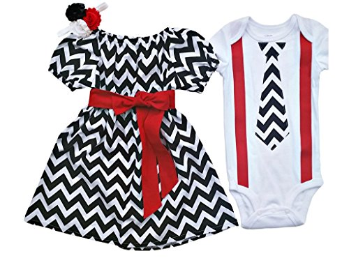 Boy Girl Twin Outfits Brendan and Kerrington by Perfect Pairz USA Made Outfit (Made Outfit)