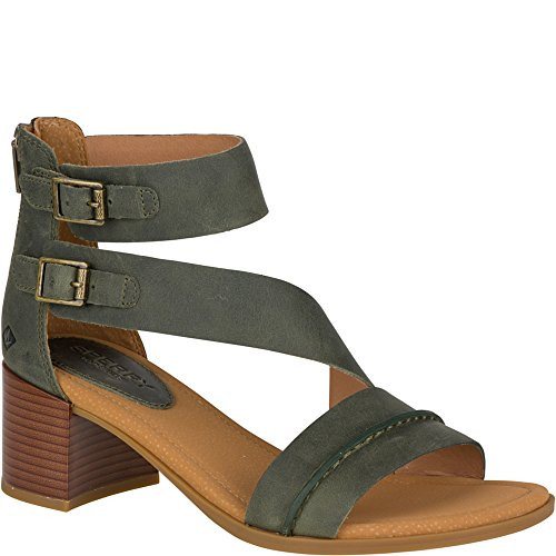 Sperry Top-Sider Women's Adelia York Heeled Sandal Olive UoeFT1iDYc