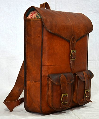 thehandicraftworld Handmade real leather backpack rucksack briefcase vintage natural bag by thehandicraftworld