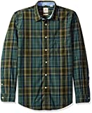 Dockers Men's Poplin Long Sleeve Button-Front Shirt, Dark Forest, XX-Large