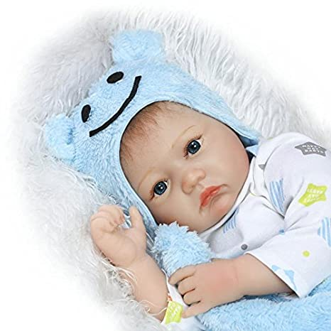 Funny House 22 Inch 55cm Lifelike Reborn Dolls Soft Silicone Vinyl Real Touch Newborn Baby Doll Free Magnet Pacifier