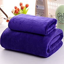 Wrapped Super water absorption increases thicker towels softer adult unisex cotton quick dry towel 70*140cm,Purple