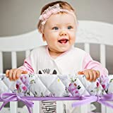 3-Piece Padded Baby Floral Crib Rail Cover