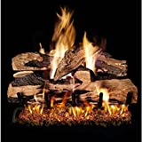 Peterson Real Fyre 24-inch Split Oak Designer Plus Gas Log Set With Vented Natural Gas G4 Burner - Manual Safety Pilot
