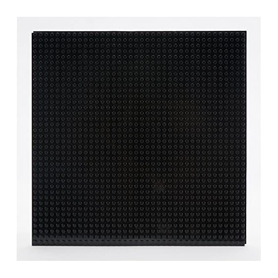 """EduToys Base Plate Board Black 10"""" x 10"""" (32 x 32 Pegs) for Building Blocks Bricks Compatible with All Brands"""