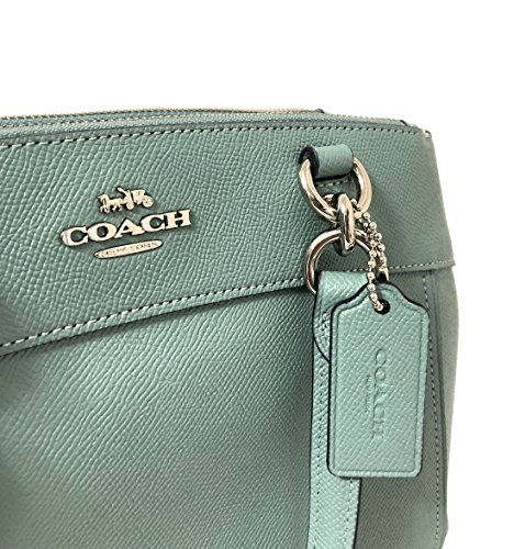 Sv Aquamarine Crossbody Signature Mini Handbag Brooke Detachable Leather Coach Womens Crossgrain Strap Carryall 7axPBqnz