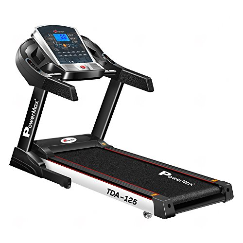 Powermax Fitness TDA-125 (2.0 HP), Smart Run Function, Auto Lubrication & Auto Inclination Motorized...