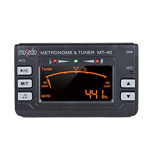 ammoon Instrument 3-in-1 Metronome Tuner Tone Generator for Guitar Bass Violin Ukelele Chromatic Clear LCD Display