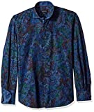 BUGATCHI Men's Cotton Slim Fit Spread Collar Shirt, Orchid, X-Large