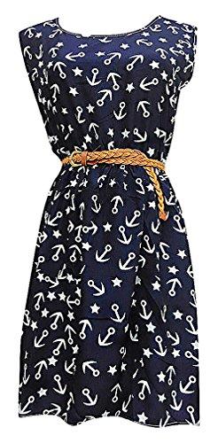 Buy belted chiffon shift dress - 7