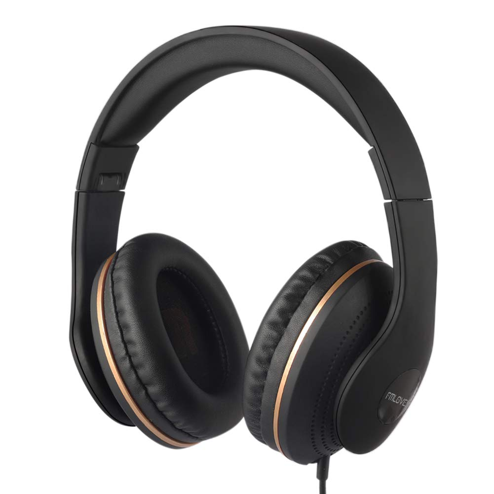 Active Noise Cancelling Headphones Wired, ANC Over Ear with Mic,Sound Cancelling Headphones Foldable Lightweight, Deep Bass Headset 20 Hours for Travel and Office TV Phone - Black from FMLOVES