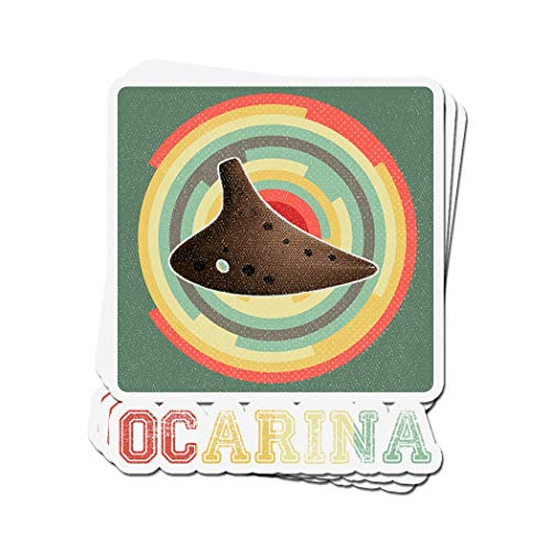 3 PCs Stickers Ocarina Vintage Retro for Ocarina Player 4 × 3 Inch Die-Cut Decals (All Shrines In Breath Of The Wild)
