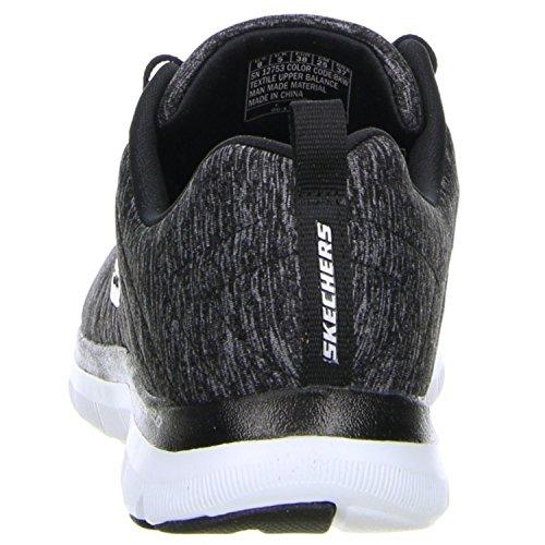 Skechers Dame Flex Appel 2,0 Sneakers Sort - Noir (bkw Noir / Blanc)