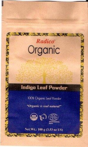 RADICO - Indigo Powder 100% Natural - Vegetable coloring to obtain black hair with blue undertones - Antiseptic properties - 100 gr