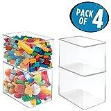 mDesign Kids/Baby Toy Storage Box, for Blocks, Play Kitchen...