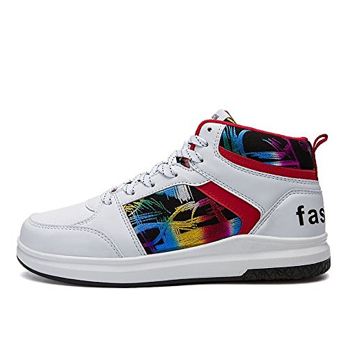 Estate da alta basket 43 Dimensione da con Jiuyue 2018 casual hop e moda EU Sneakers Autunno uomo donna scarpe Bianca stile Color shoes fantasia hip 0xwXaq5