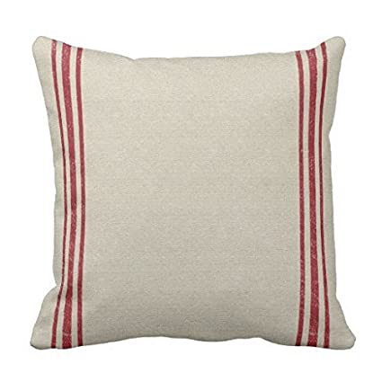 Amazon.com: 18x18inch Pillow Cases Standard Size, Red Striped Grain ...
