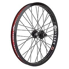 The Hazard Lite front wheel features a Odyssey Hazard Lite rim laced to an Odyssey Antigram hub.