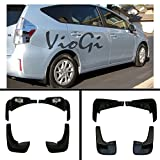 mud flaps for toyota corolla - VioletLisa New Set of 4 Matte Black Durable PP Bolt-On Flap Protect Front & Rear Mud Guards+Screws+Clamps For 03-08 Toyota Corolla Sedan 4-Door