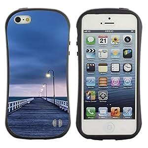 Paccase / Suave TPU GEL Caso Carcasa de Protección Funda para - Lonely Sea Grey Pier Sad - Apple Iphone 5 / 5S