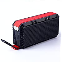 Travel Inspira V4.2 Portable Bluetooth Speaker, IPX6 Waterproof, Dual-Channel Wireless Stereo System (True Wireless Stereo), Durable Design with Bonus Carabiner, Over 15 Hours Long Playback Time