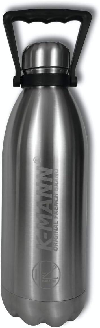 K-mann Botella Grande Aislada de Acero Inoxidable en Metal Grabado 1.5L 1500ml (Original)