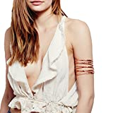 OCTCHOCO Simple Gold Swirl Upper Arm Cuff Fashion Armlet Armband Bangle Bracelet