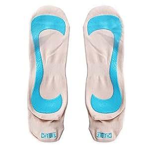 White Pilates Socks With Grips Non-slip Yoga Cotton Socks Slip resistant Socks