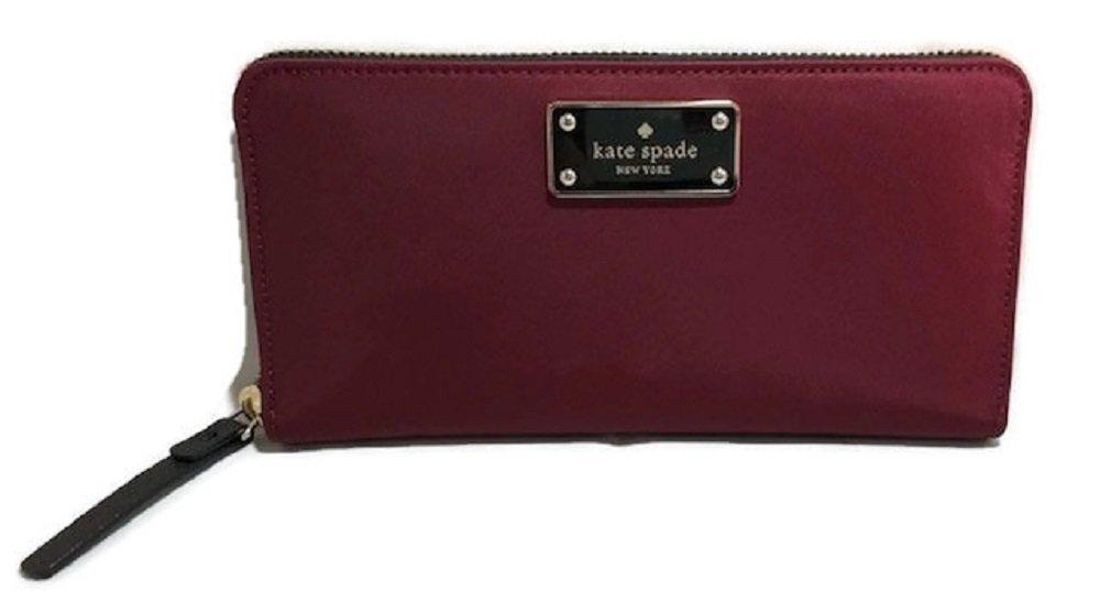 Kate Spade Blake Avenue Neda Polyester Zip Around Wallet Merlot