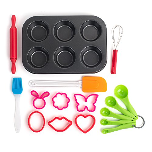 Bake Cookie Set (16 Piece Baking Set, the Perfect Next Step From the Easy Bake Oven. Kid Safe Cooking Tools for Cupcakes, Muffins, Pastries, and)