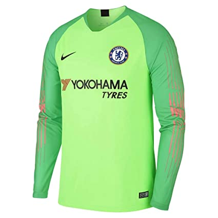 Nike 2018-2019 Chelsea Home Goalkeeper Football Soccer T-Shirt Jersey  (Green) 1bd742eb3355