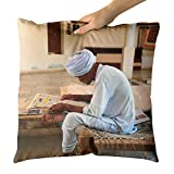 Westlake Art Man Person - Decorative Throw Pillow Cushion - Picture Photography Artwork Home Decor Living Room - 18x18 Inch (6772-88004)