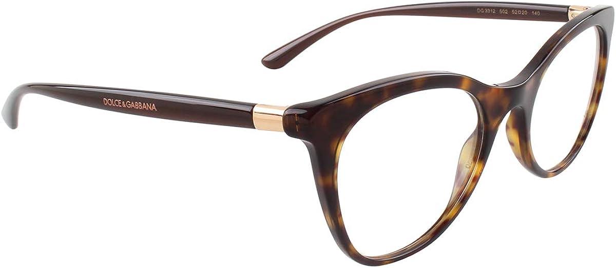 Dolce Gabbana DG3312 Havana//Clear Lens Eyeglasses