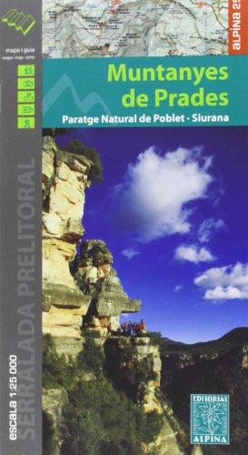 Descargar Libro Muntanyes De Prades, Mapa Excursionista. Escala 1:25.000. Alpina Editorial. Vv.aa.