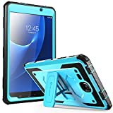 Galaxy Tab A 7.0 Case, [Heavy Duty] i-Blason Samsung Galaxy Tab A 7 2016 Armorbox [Dual Layer] Hybrid Full-body Protective Kickstand Case with Front Cover and Built-in Screen Protector (Blue)