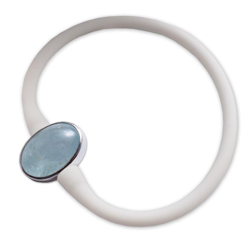 Aquamarine Stone Bracelet by Stones Desire