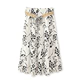 J.Cotton Women's Bohemian Style Color-printed Flax Belted Skirt Size M Multi-Color 13